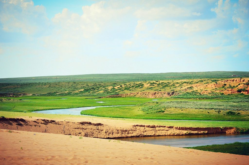 inner mongolia, gol, playing in the sand